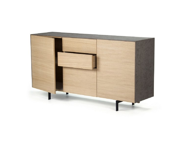 Console 3 cabinets wood