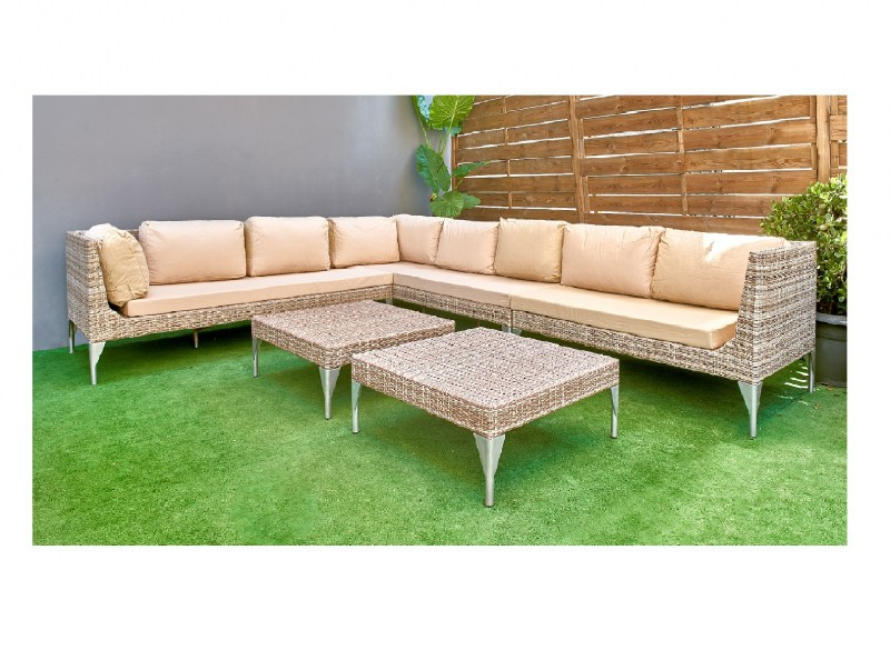Corner sofa wicker couch for outdoor outside use
