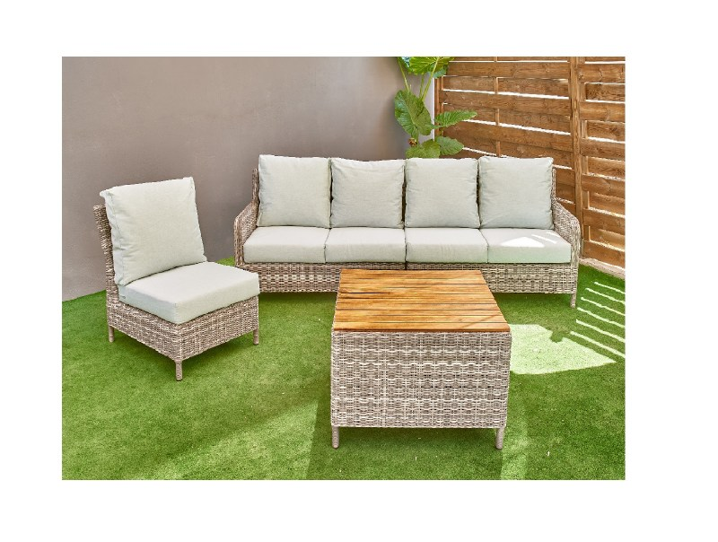 Set wicker outdoor corner sofa couch coffee table7