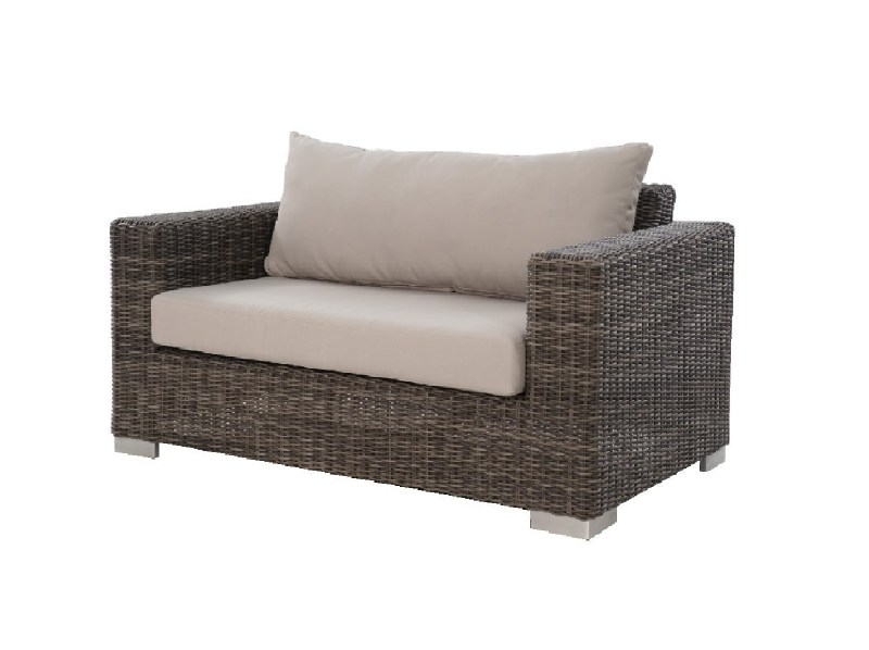 Sofa couch wicker outdoor 2-seated