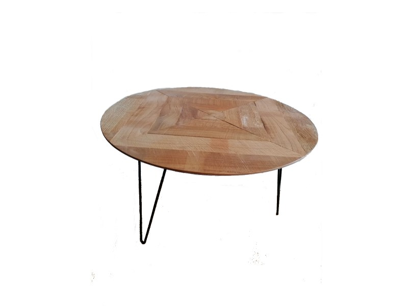small lace table teak top 96108 70x40, 110 euro